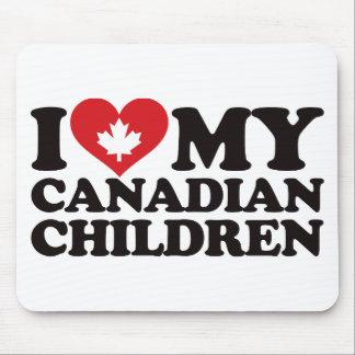 Amo a mis niños canadienses alfombrillas de raton