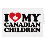 Amo a mis niños canadienses tarjetón
