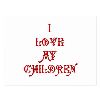 Amo a mis niños tarjeta postal