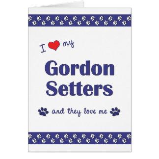 Amo a mis organismos de Gordon (los perros múltipl Felicitación