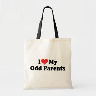 Amo a mis padres impares bolsa tela barata