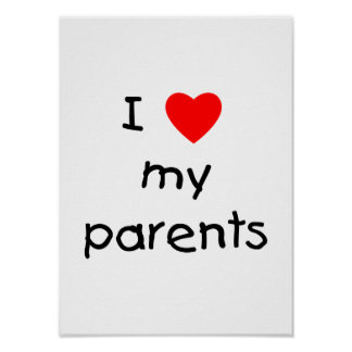 Amo a mis padres poster
