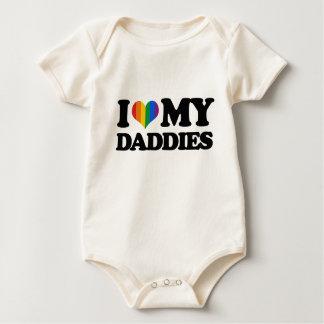 Amo a mis papás body para bebé