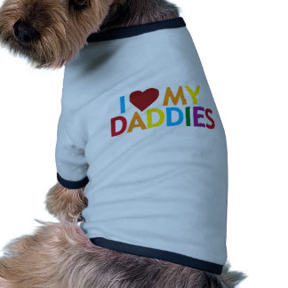 amo a mis papás camiseta con mangas para perro