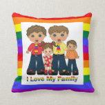 Amo a mis papás de la familia 2 almohadas