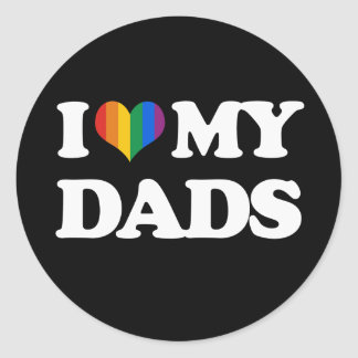 Amo a mis papás - etiquetas redondas