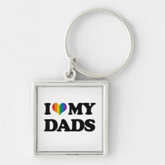 Amo a mis papás llaveros