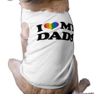 Amo a mis papás playera sin mangas para perro