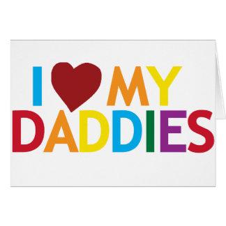 amo a mis papás tarjeta de felicitación