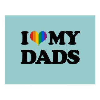 Amo a mis papás postales