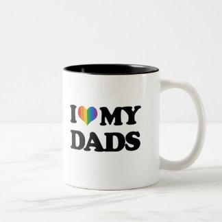 Amo a mis papás taza