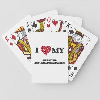 Amo a mis pastores australianos miniatura cartas de juego