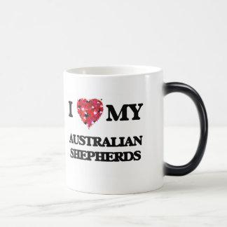 Amo a mis pastores australianos taza mágica
