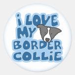 Amo a mis pegatinas del border collie