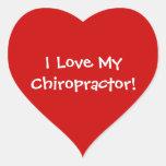 Amo a mis pegatinas del Chiropractor Calcomanía De Corazón Personalizadas