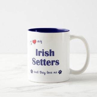 Amo a mis setteres irlandeses (los perros múltiple tazas de café