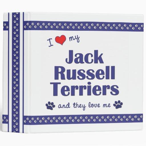 Amo a mis terrieres de Jack Russell (los perros mú