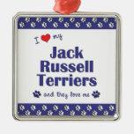 Amo a mis terrieres de Jack Russell (los perros mú Ornamentos De Reyes Magos