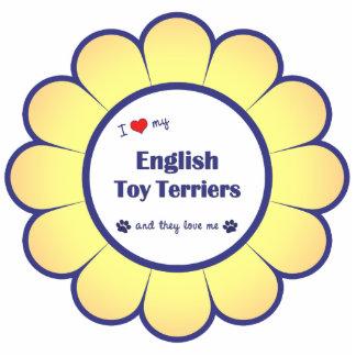 Amo a mis terrieres de juguete ingleses (los perro adorno fotoescultura
