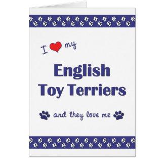 Amo a mis terrieres de juguete ingleses (los perro tarjeta pequeña