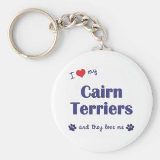 Amo a mis terrieres de mojón (los perros múltiples llavero redondo tipo pin