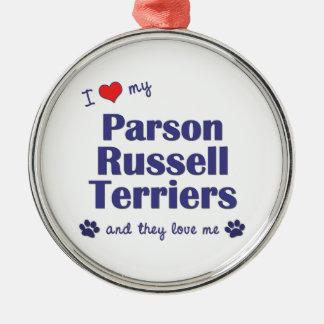Amo a mis terrieres de Russell del párroco (los Ornamentos De Reyes