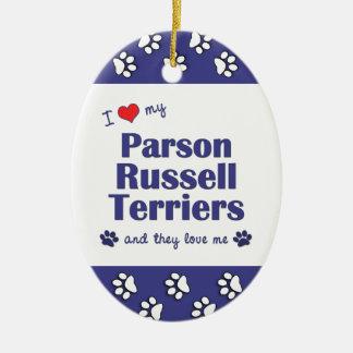 Amo a mis terrieres de Russell del párroco (los Ornamente De Reyes