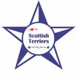 Amo a mis terrieres escoceses (los perros múltiple escultura fotográfica
