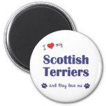 Amo a mis terrieres escoceses (los perros múltiple imán para frigorifico