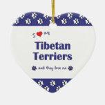 Amo a mis terrieres tibetanos (los perros múltiple ornamentos para reyes magos
