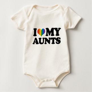 Amo a mis tías body para bebé