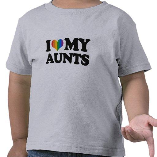 Amo a mis tías camisetas