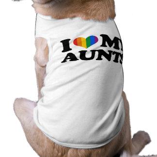 Amo a mis tías playera sin mangas para perro