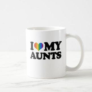 Amo a mis tías taza clásica