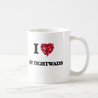 Amo a mis Tightwads Taza Básica Blanca