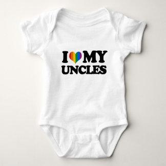 Amo a mis tíos body para bebé