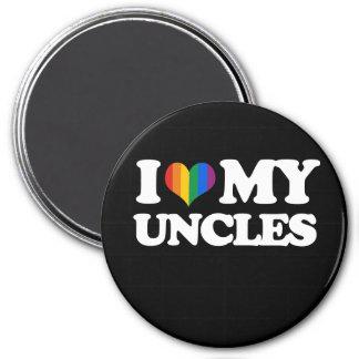 Amo a mis tíos - imán redondo 7 cm