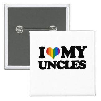 Amo a mis tíos pin cuadrado