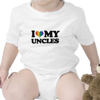 Amo a mis tíos trajes de bebé
