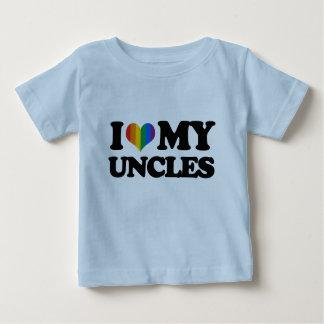 Amo a mis tíos playera de bebé