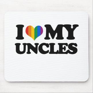 Amo a mis tíos alfombrillas de ratones