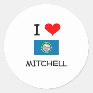 Amo a Mitchell Dakota del Sur Pegatina Redonda