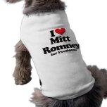 Amo a Mitt Romney para el presidente Camisa De Perro