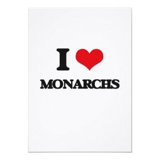 Amo a monarcas invitación 12,7 x 17,8 cm