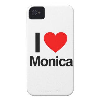 amo a Mónica iPhone 4 Fundas