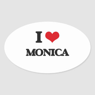 Amo a Mónica Pegatina Ovalada