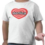 Amo a Mónica. Te amo Mónica. Corazón Camisetas