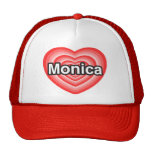 Amo a Mónica. Te amo Mónica. Corazón Gorra