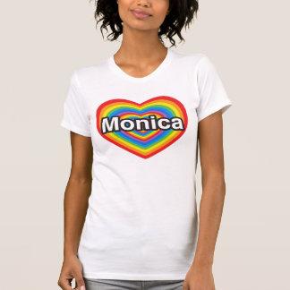 Amo a Mónica. Te amo Mónica. Corazón Camiseta