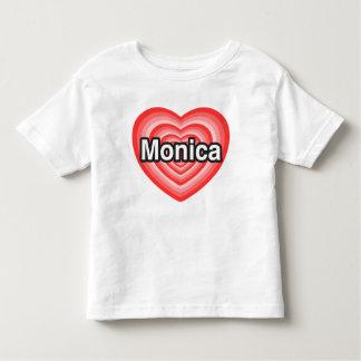 Amo a Mónica. Te amo Mónica. Corazón Playeras